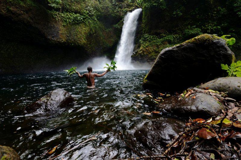wasserfall mount cameroon nationalpark